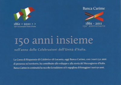 La CARICAL Festeggia i 150 anni